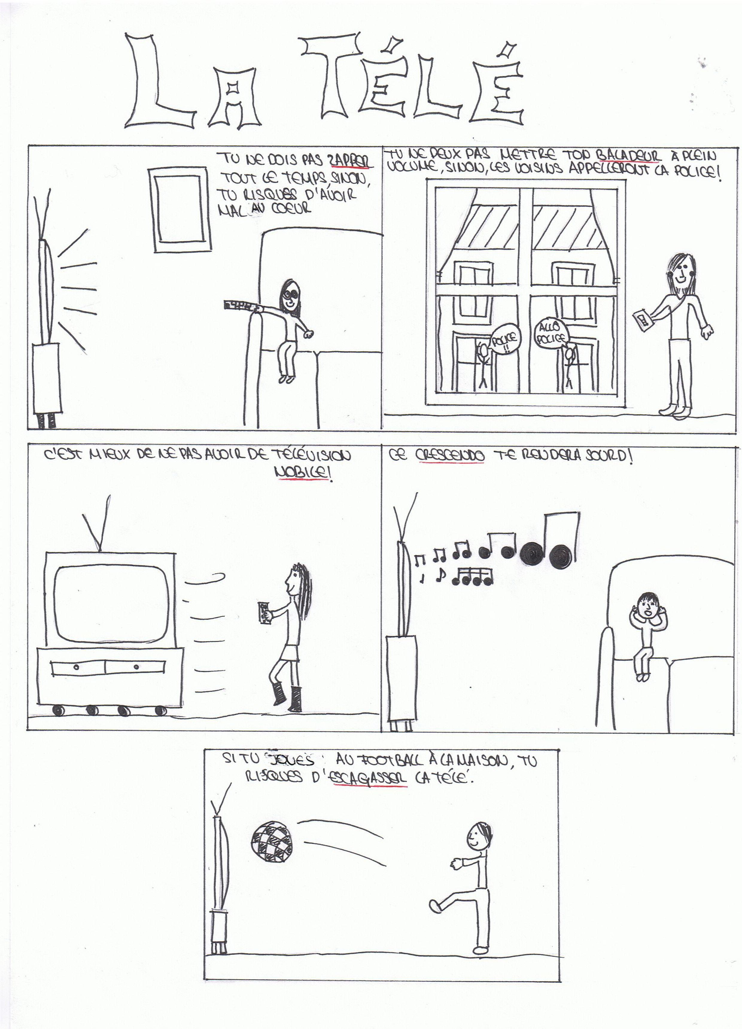 La télé, Alicia Brull, Instituto Cultural Francés, 13 ans